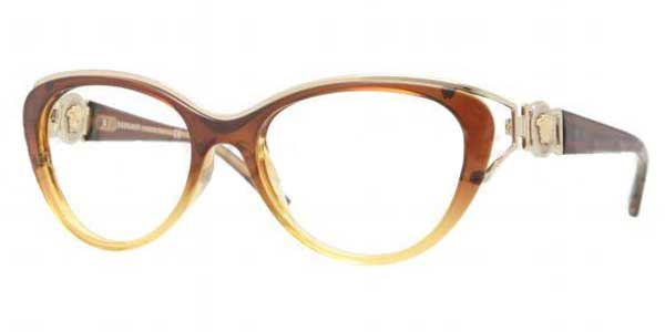 Óculos de Grau Versace VE3167 5006 Brown Gradient Sand   OculosWorld ... 284be0b772