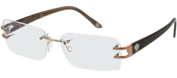 6664652bc514 Versace VE1170 1053 Glasses Brown | VisionDirect Australia