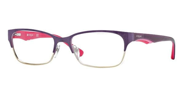 0b63fa677f Lentes Opticos Vogue Eyewear VO3918 848 Violet Brushed Pale Gold ...