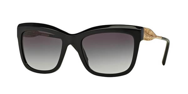 9c72d809ff Burberry BE4207F Gabardine Lace Asian Fit 30018G Sunglasses in Black ...