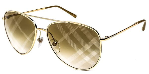 f73f03f4df4a Burberry BE3072 Check 1017B3 Sunglasses Gold