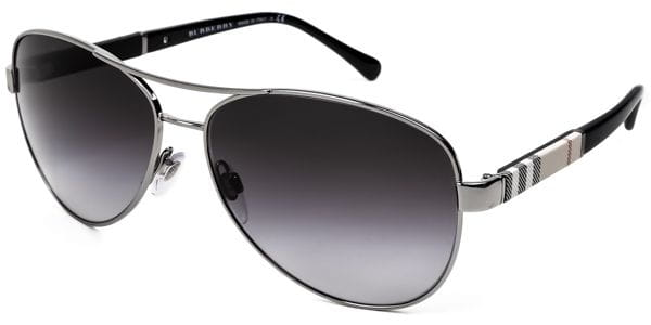 4060a8d4b Burberry BE3080 10038G Sunglasses Silver | SmartBuyGlasses India