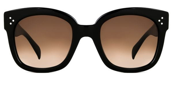 hot product newest collection size 7 Celine CL 41805/S New Audrey 807/HA Sunglasses Black ...