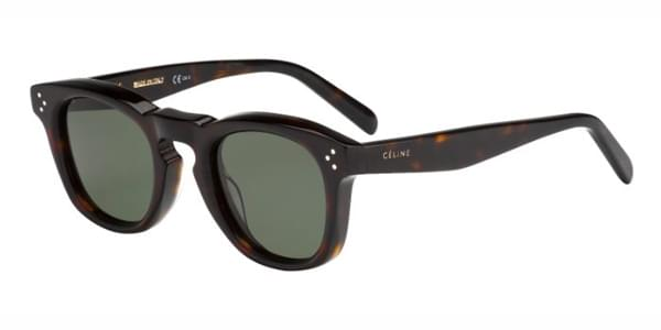 Celine CL 41371/S Bevel Square 086/85 Sunglasses in Tortoise ...