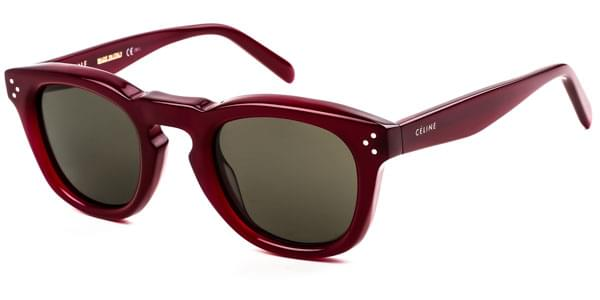 Celine CL 41371 S Bevel Square EGT 70 Sunglasses Burgundy ... 4c2df8a6fc8