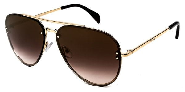 3af7ae79df5 Celine CL 41392 S Mirror Small J5G QH Sunglasses Gold