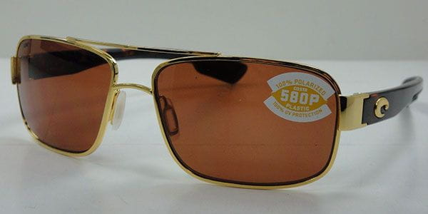 5d640f2d34e Costa Del Mar Tower Polarized TO 26 OCP Sunglasses in Gold ...