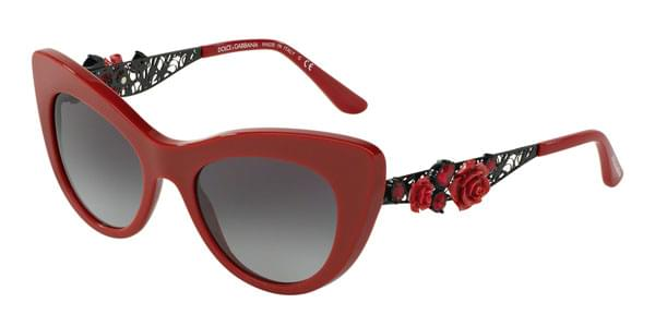 1d64ffde4598 Dolce & Gabbana DG4302B FLOWER LACE 30888G Sunglasses in Red |  SmartBuyGlasses USA