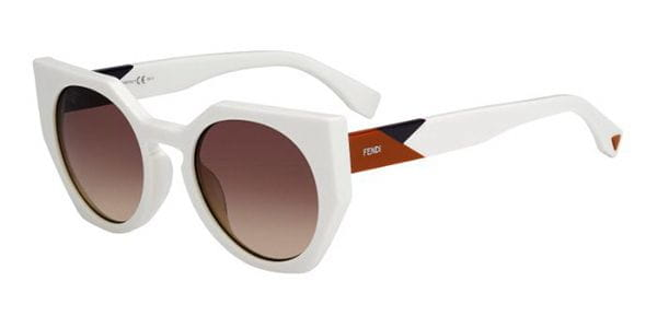 c3d44e6b36 Fendi FF 0151/S FACETS FMZ/EO Sunglasses in White | SmartBuyGlasses USA