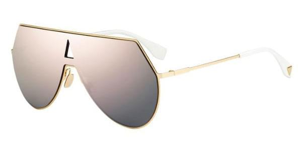 eab7691e3a Fendi FF 0193 S EYESHINE 000 0J Sunglasses Gold