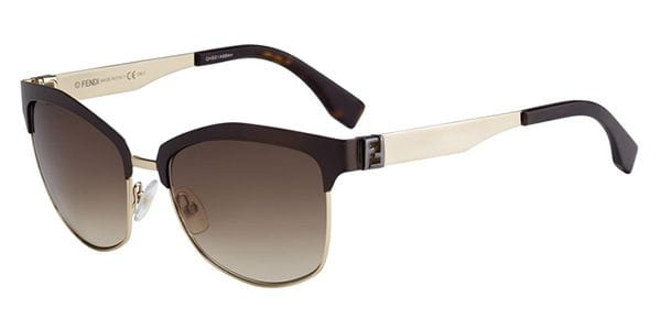 3402437866 Fendi FF 0051 S THE FENDISTA MOC CC Sunglasses in Brown ...