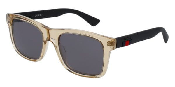 3c389417ab Gucci GG0008S 005 Sunglasses Clear | SmartBuyGlasses UK