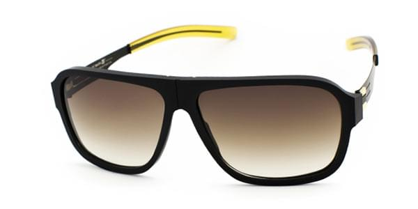 f253d61a2b9aa Ic! Berlin A0557 Power Law Black-Rough - Brown-Sand Coated Sunglasses