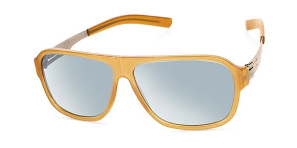 0c65c8162ab31 Ic! Berlin A0557 Power Law Creme Brulee Washed - Teal Mirror Sunglasses