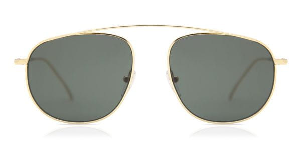 e9f14b3a96 Illesteva Santorini Gold With Olive Flat Lenses Sunglasses in Gold ...