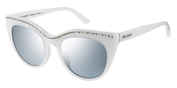 28e2ae456a Juicy Couture JU 595 S VK6 GO Sunglasses in White