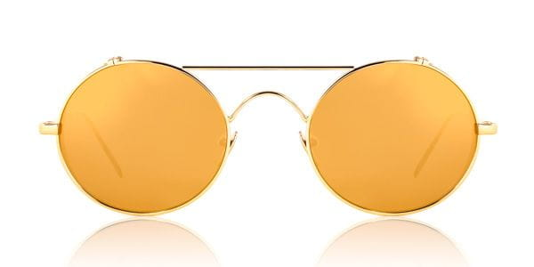 a296dbd705 Linda Farrow Oval Yellow Gold C1 Sunglasses in Gold ...