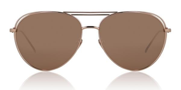 Image of Occhiali da Sole Linda Farrow Aviator Rose Gold LFL575 C3