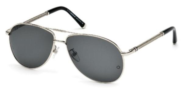 09487afba34 Mont Blanc MB425S 16A Sunglasses Silver