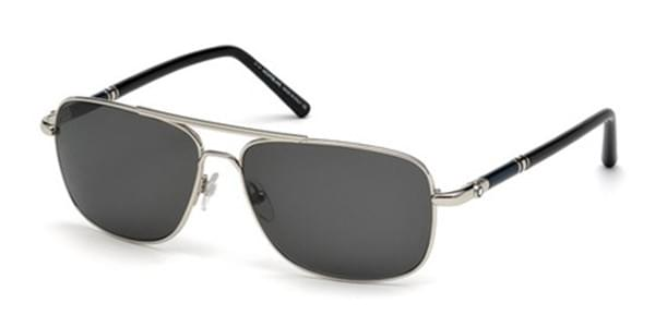 f79afcdf920 Mont Blanc MB508S 16A Sunglasses Silver