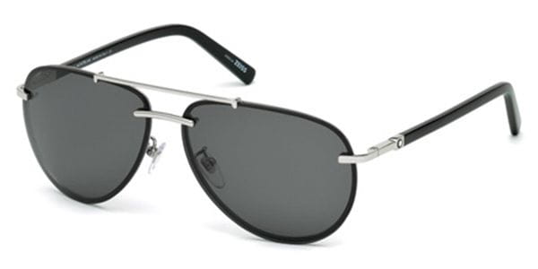 6bb48467f30 Mont Blanc MB596S 16A Sunglasses in Silver
