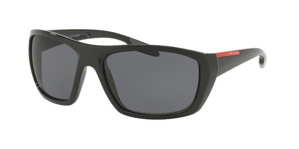 a1b48cf333 Prada Linea Rossa PS06SS Polarized 1AB5Z1 Sunglasses Black ...