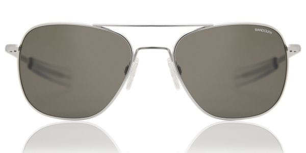d21d2bcebb Randolph Engineering Aviator Polarized AF085 Sunglasses Silver ...
