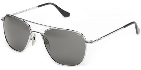 4447c752308 Randolph Engineering Aviator Polarized AF023 Sunglasses Silver ...