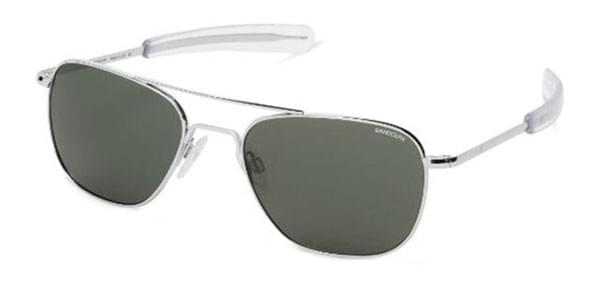 731e1825a7 Randolph Engineering Aviator Polarized AF126 Sunglasses Silver ...