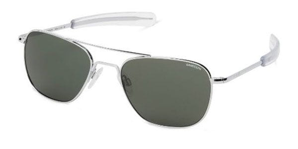 8b44d17d5e Randolph Engineering Aviator Polarized AF126 Sunglasses in Silver ...