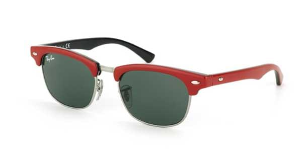 13922d8756 Ray-Ban Junior RJ9050S Clubmaster 162 71 Sunglasses Red ...