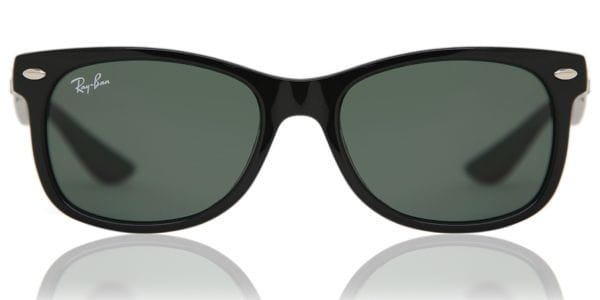 3baadc485fa3 Ray-Ban Junior RJ9052S New Wayfarer 100 71 Sunglasses in Black ...