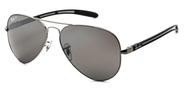 ray-ban rb8307 aviator carbon fibre polarisiert