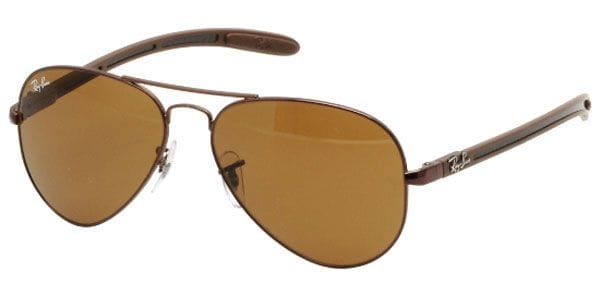 3280765d2a5 Ray-Ban Tech RB8307 Aviator Carbon Fibre 014 Glasses Brown ...