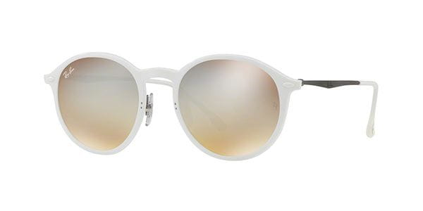 08c8abc1b93b2 Ray-Ban Tech RB4224 Round Light Ray 671 B8 Sunglasses White ...
