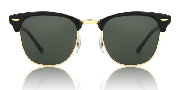 Ray-Ban RB3016 Clubmaster W0365 Sunglasses Gold   VisionDirect Australia 771ab5d10d