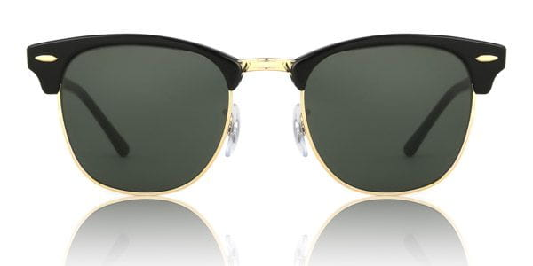 10107e65c3 Ray-Ban RB3016 Clubmaster W0365 Sunglasses in Gold