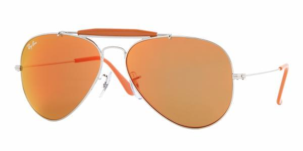 5a656486a2 Ray-Ban RB3407 Outdoorsman II Rainbow 003 69 Sunglasses Silver ...