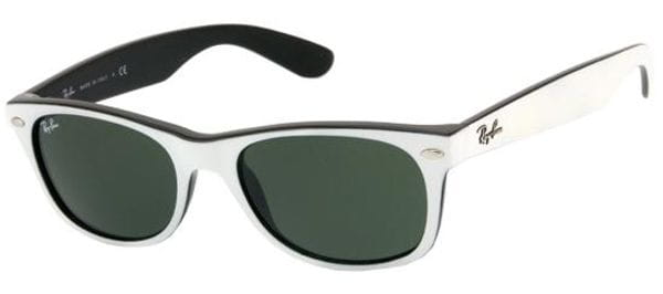 3a59194d95 Ray-Ban RB2132 New Wayfarer 770 Sunglasses in White ...