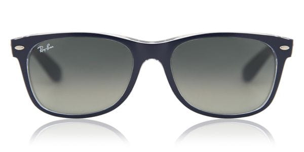 077cba2793b1 Ray-Ban RB2132 New Wayfarer Color Mix 6053/71 Sunglasses in Blue ...