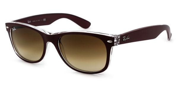 1430823df355 Ray-Ban RB2132 New Wayfarer Color Mix 6054/85 Sunglasses in Brown ...