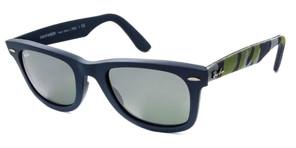 5cb51cb1b4904 Ray-Ban RB2140 Original Wayfarer Urban Camouflage 6061 40 Sunglasses in  Blue