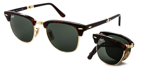 771836b7cdf Ray-Ban RB2176 Clubmaster Folding 990 Sunglasses Red ...
