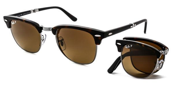 dd4d862136 Ray-Ban RB2176 Clubmaster Folding Polarized 1151 M7 Sunglasses in ...