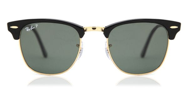 52d0ef902da Ray-Ban RB3016 Clubmaster Polarized 901 58 Sunglasses in Gold ...