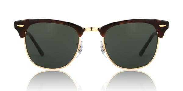 33a6bd704d9a Ray-Ban RB3016 Clubmaster W0366 Sunglasses Tortoise   VisionDirect ...