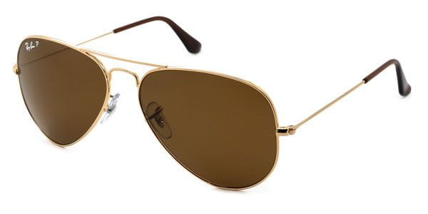 154640268d1 Ray-Ban RB3025 Aviator Large Metal Polarized 001 57 Sunglasses Gold ...