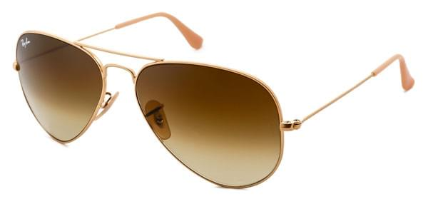 f4ca16d99da Ray-Ban RB3025 Aviator Gradient 112 85 Sunglasses Gold ...