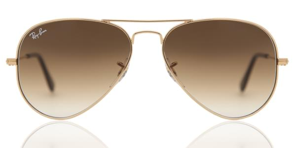 Ray-Ban RB3025 Aviator Gradient 001 51 Sunglasses Gold ... b3a0d6713e