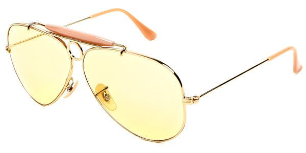 67618733566228 Ray-Ban RB3138 Shooter 001 4A Sunglasses in Gold